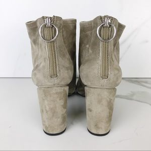 Via Spiga Shoes - Via Spiga Taupe Suede Block Heel Ankle Booties 9.5